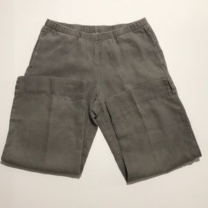 J. Jill Gray linen elastic crop ankle pants xS